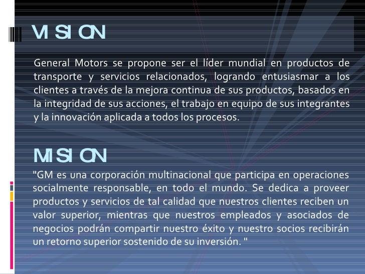 General Motors Su Estrategia Global