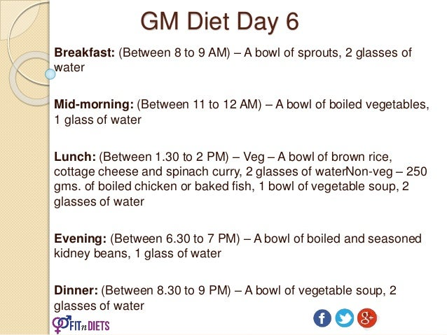 Gm diet plan fastest vegetarian diet to lose weight in 7 days gm ccuart Image collections