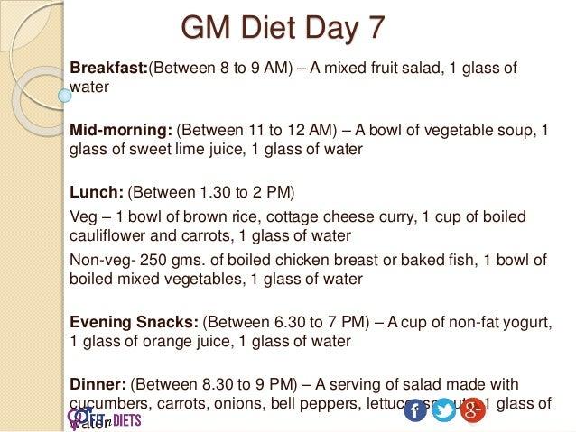 GM Diet: The Fastest Indian Vegetarian Diet Plan to Lose Weight in 7 Days