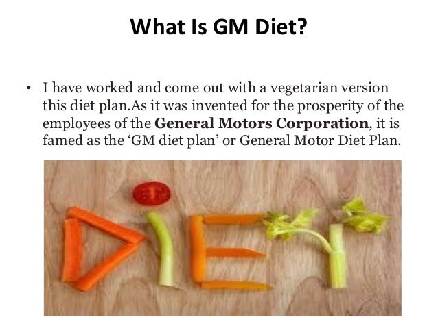 Gm Diet Plan To Loose Weight In 7 Days