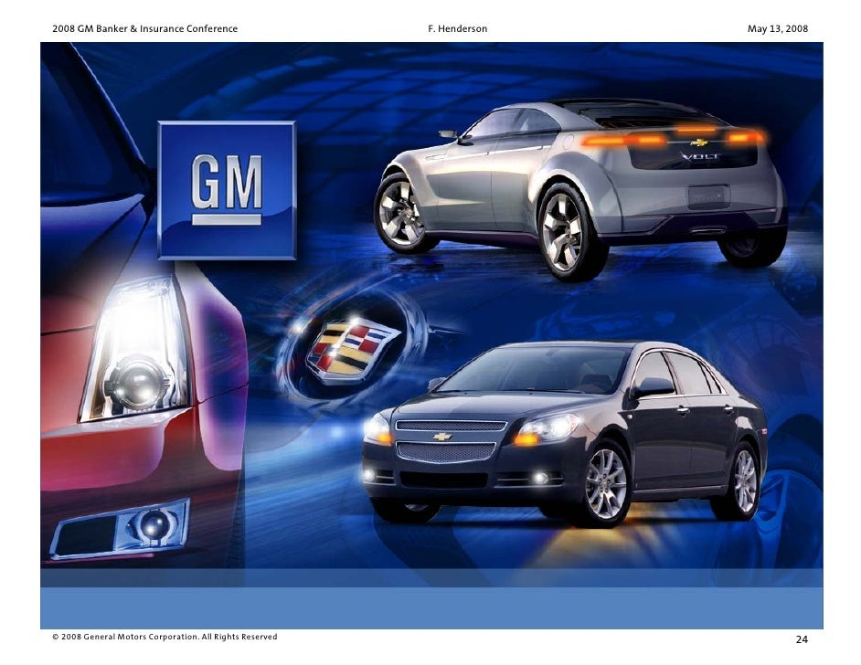 General Motors Events Presentations 2008 Gm Bank