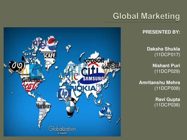 Global marketing in firm