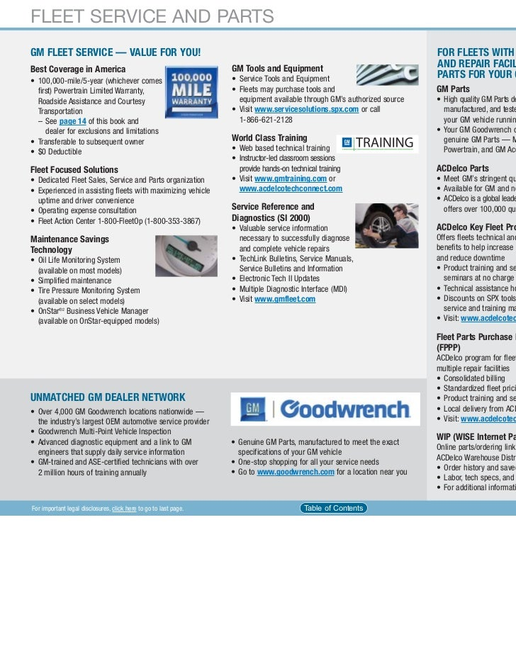 Gm Fleet And Commercial Car And Truck Guide 2011 10 18 10