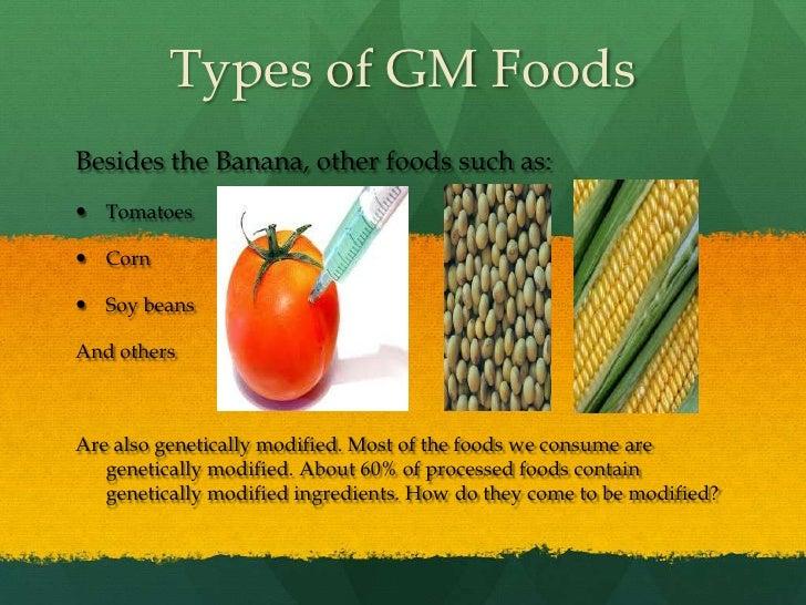 gm foods bananas