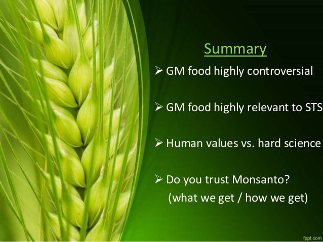 Genetically Modified (GM) foods presentation (2016)