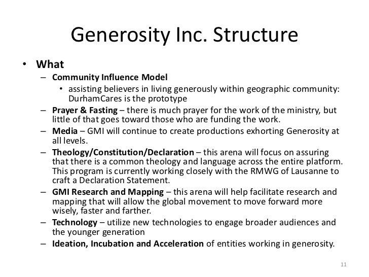 Generosity essay