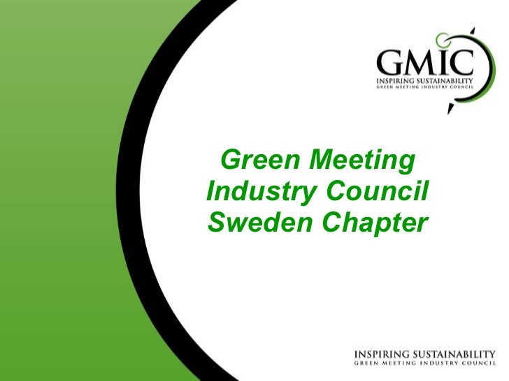 Green Meeting Industry Council Sweden Chapter