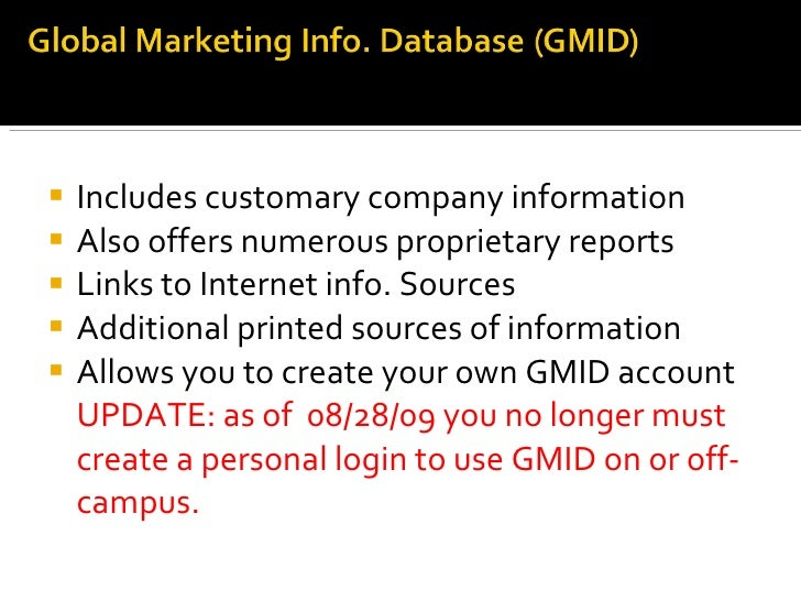 international marketing information A marketing information system (mkis) is a management information system (mis) designed to support marketing decision makingjobber (2007) defines it as a system in which marketing data is.