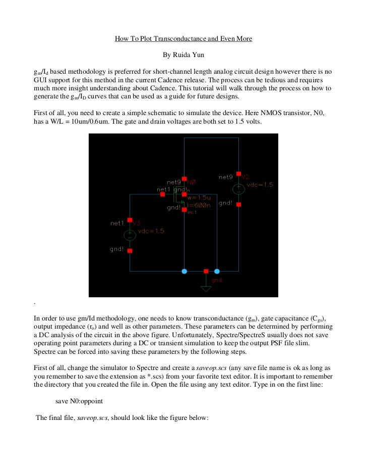 How To Plot Transconductance and Even More                                              By Ruida Yungm/Id based methodolog...
