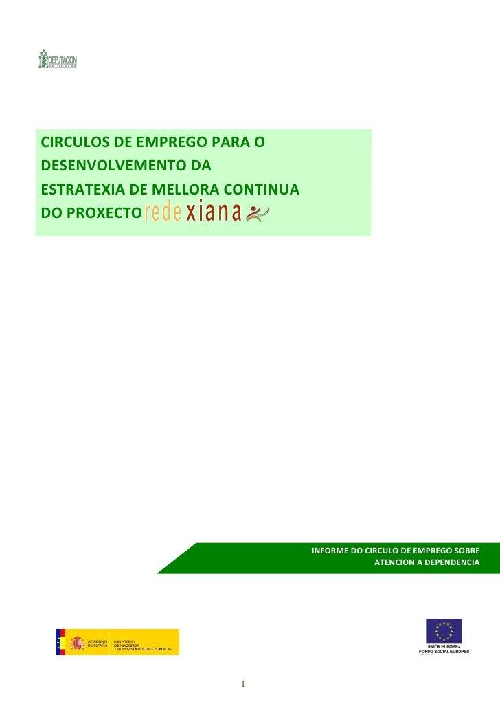 CIRCULOS DE EMPREGO PARA ODESENVOLVEMENTO DAESTRATEXIA DE MELLORA CONTINUADO PROXECTO                                 INFO...