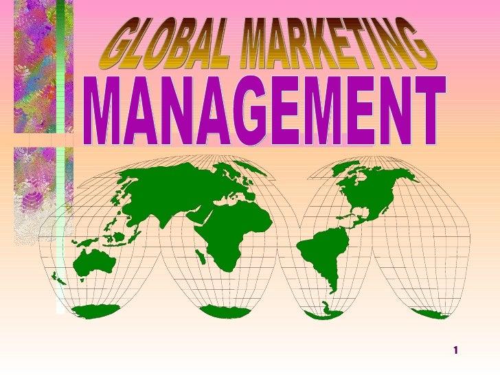 MANAGEMENT GLOBAL MARKETING