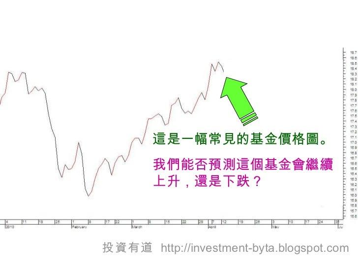 這是一幅常見的基金價格圖。 我們能否預測這個基金會繼續上升,還是下跌 ? 投資有道   http://investment-byta.blogspot.com