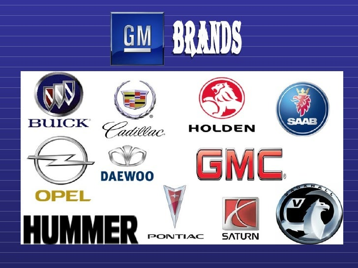 Gm marketing strategy1 1 for General motors cars brands