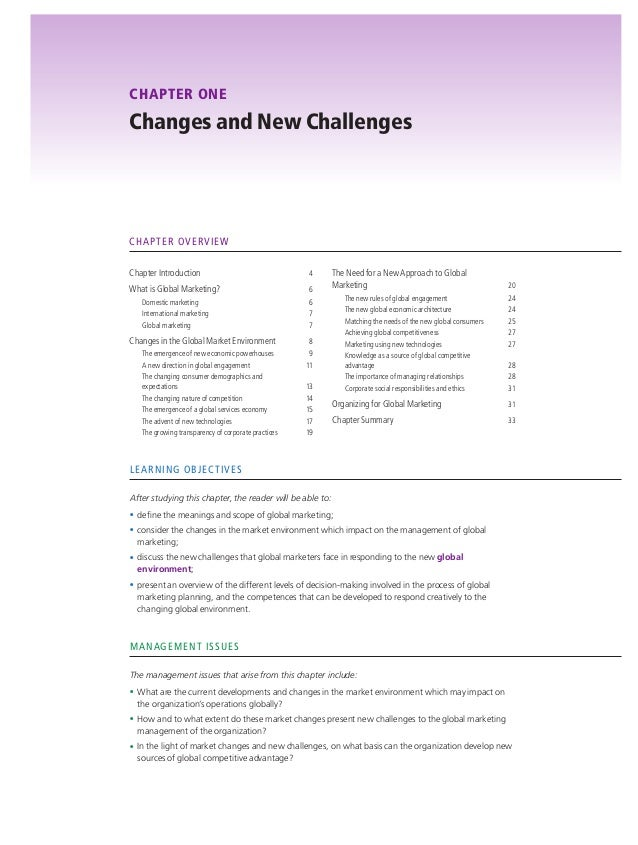 global marketing management chapter  3 chapter one changes and new challenges chapter overview chapter introduction 4 what is global marketing