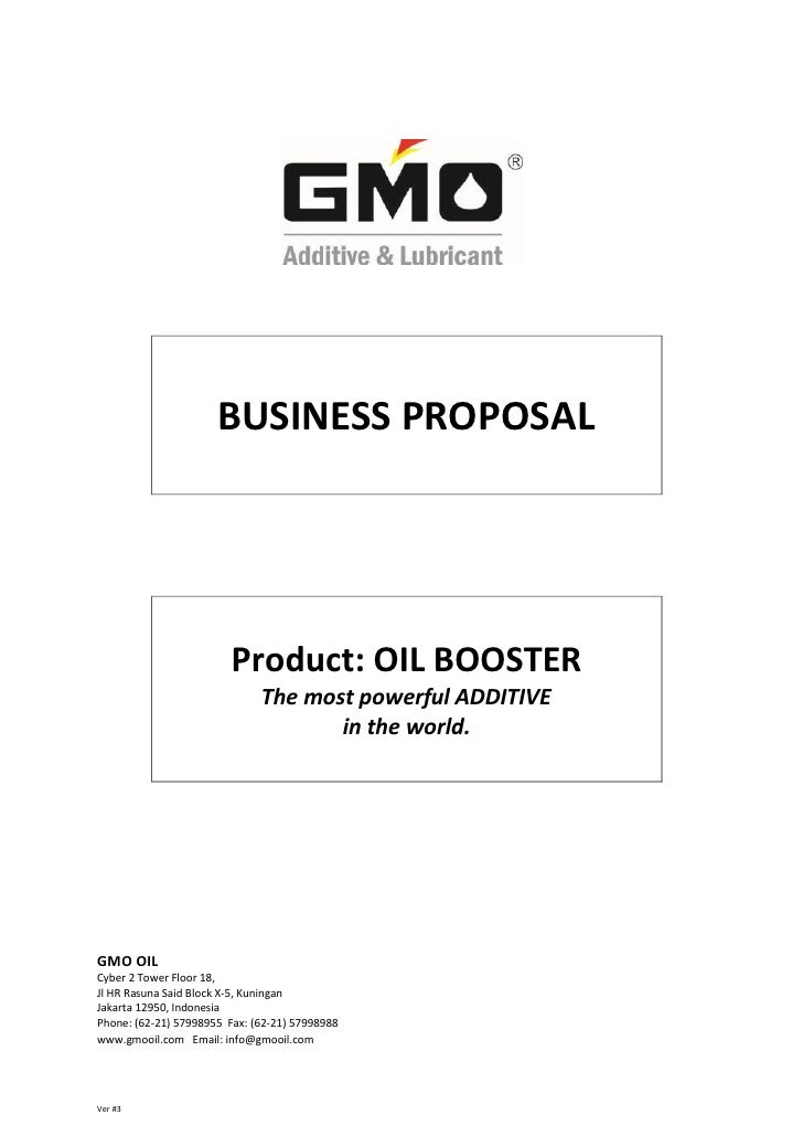 BUSINESS PROPOSAL                         Product: OIL BOOSTER                              The most powerful ADDITIVE    ...