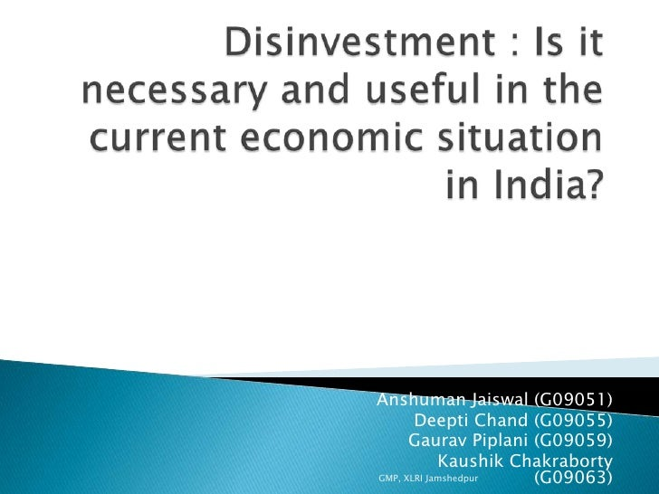 disinvestment and how it benefits india Disinvestment means sale of equity and bond capital invested by government in the psu's however, it is the government and not the psu who receive money from disinvestment.