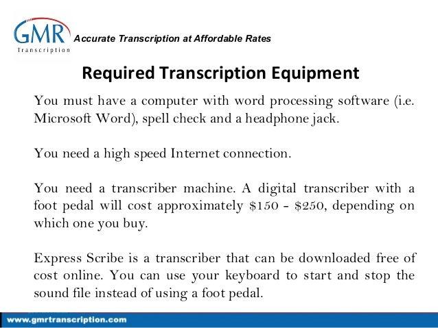 Transcription Tools And Equipment