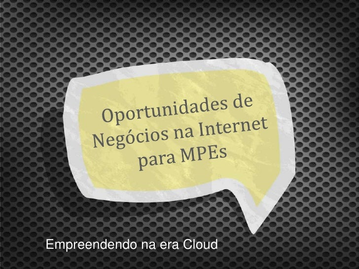 Empreendendo na era Cloud