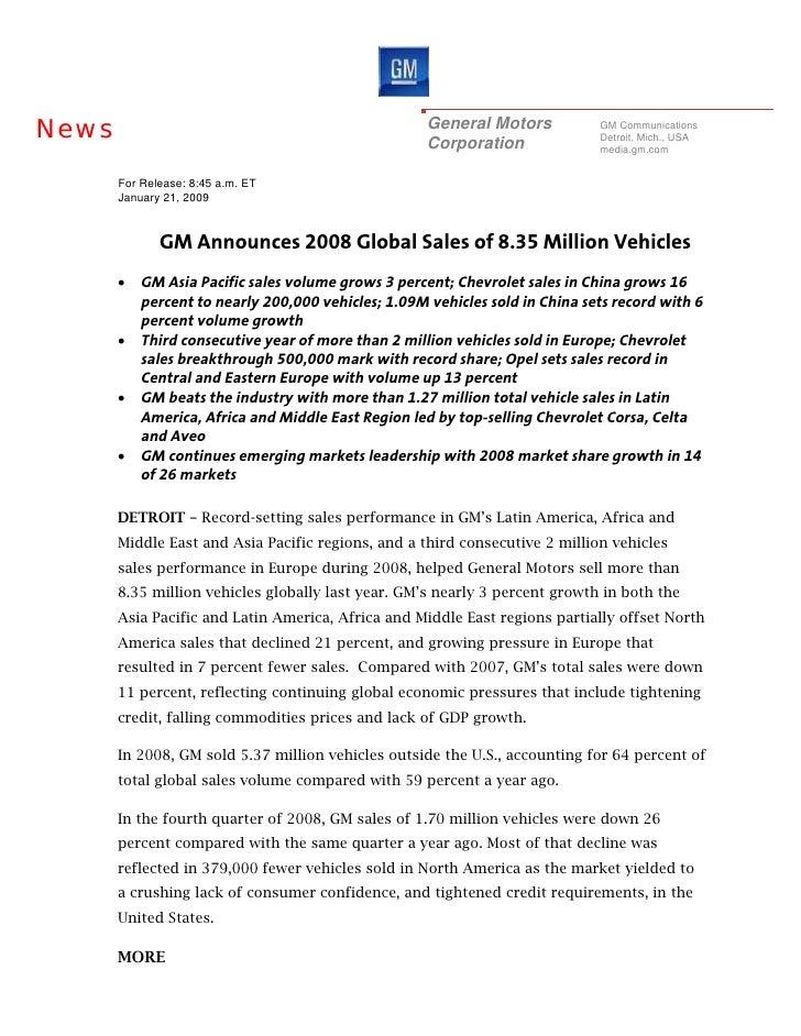 News                                                 General Motors           GM Communications                           ...