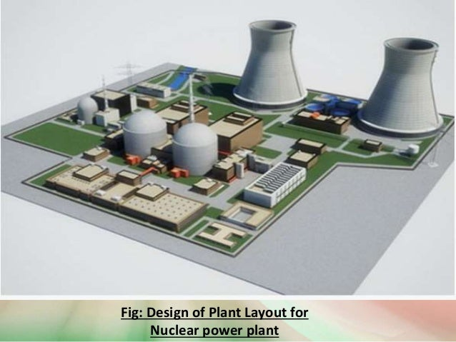 fig: design of plant layout for nuclear power plant