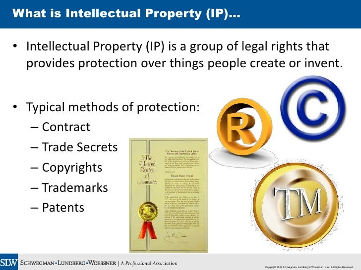"what is intellectual property In general terms, ip infringement is any breach of intellectual property rights ip rights are infringed when a work protected by ip laws is used, copied or otherwise exploited without having the proper permission from a person who owns those rights examples of an ip infringement are ""counterfeiting"" and ""piracy."