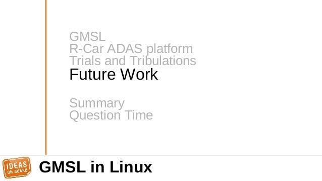 GMSL in Linux