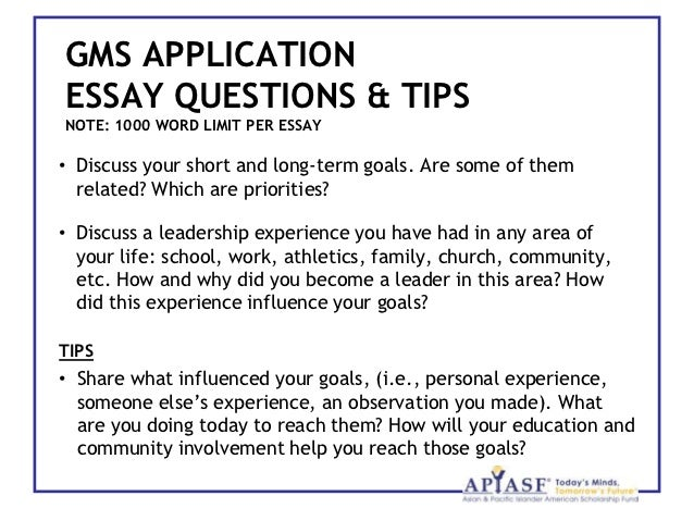 tips for scholarship essays