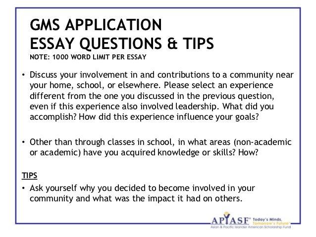 Gates millennium scholarship essay requirements for college