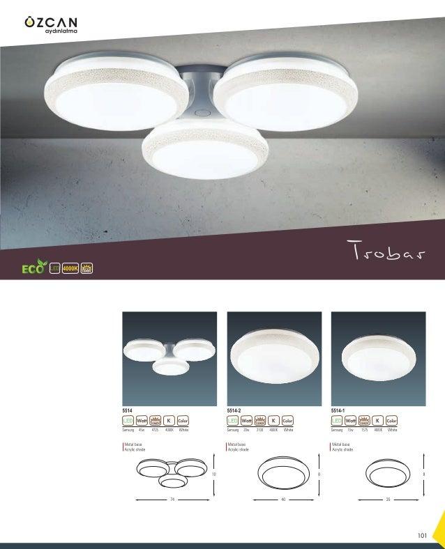 Ester Afran Yaprak Merit Altis Majestic 133 16 Samsung 24w 3000K2400 White 2635 LUMEN Metal base Acrylic shade 24 22 20 14...
