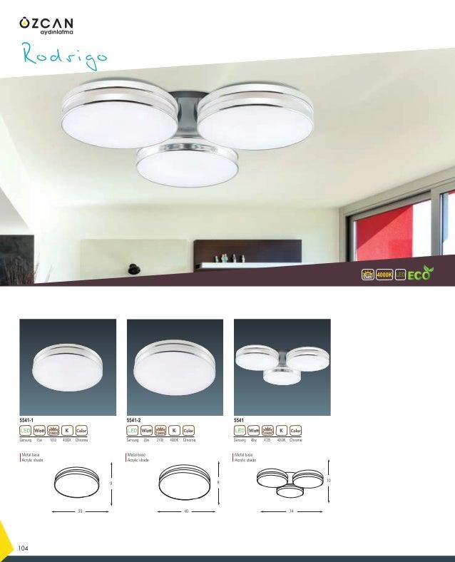 Samsung 8w 3000K800 White 2631-1 3000KLUMEN 1200 136 Samsung 12w 3000K1200 White 2631-2 LUMENLUMEN Metal base Acrylic shad...