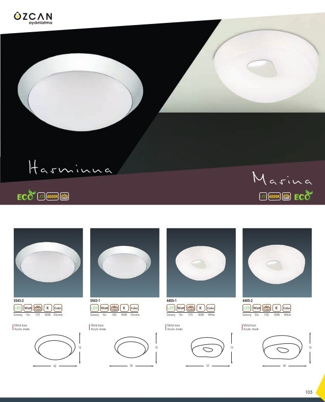 4000K LUMEN 1680 137 Samsung 16w 4000K1680 White 3721-3 LUMEN Samsung 18w 4000K1890 White 3721-2 LUMEN Metal base Acrylic ...