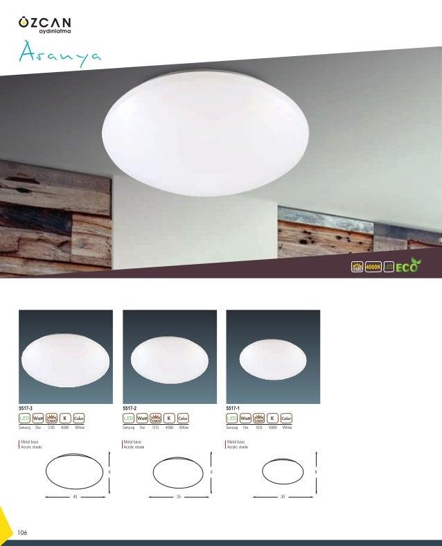Samsung 12w 4000K1260 White 3723-2 Lagün 4000KLUMEN 1260 138 Samsung 8w 4000K840 White 3723-1 LUMENLUMEN Metal base Acryli...