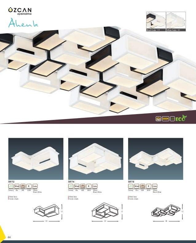 Samsung 30w 3000K2400 White Black-White 5617-2 Ahenk 3000KLUMEN 4800 66 12 12 33 12 LUMEN Metal base Acrylic shade Samsung...