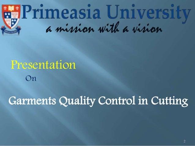 Garments Quality Control in Cutting Slide 2