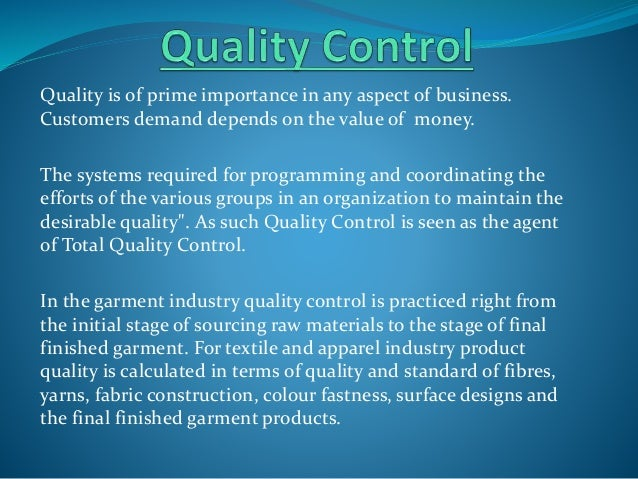 Raw Material Of Quality Control