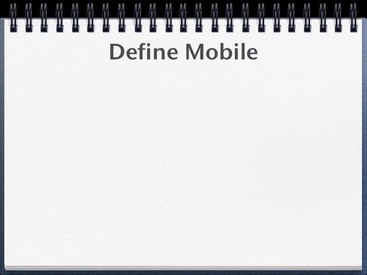 Define Mobile