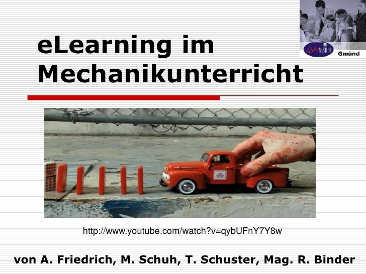 eLearning im Mechanikunterricht