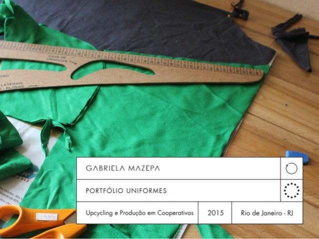 Nossos uniformes são confeccionados a partir de um conceito que se chama UPCYCLING* *transformar produtos em desuso em nov...