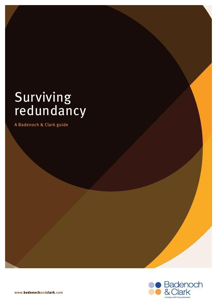 Surviving redundancy A Badenoch & Clark guide     www.badenochandclark.com