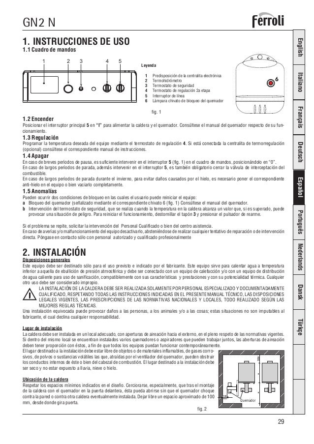 Calderas de gasoil ferroli precios stunning calderas - Precio caldera gasoil ...