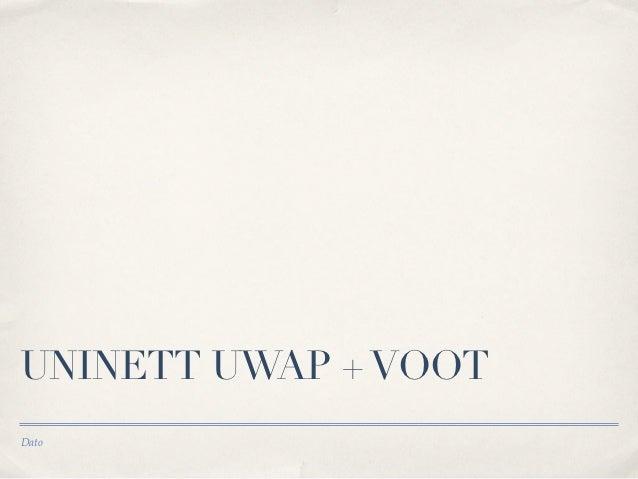 UNINETT UWAP + VOOTDato