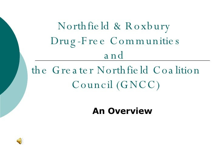 Northfield & Roxbury  Drug-Free Communities and  the Greater Northfield Coalition Council (GNCC) An Overview