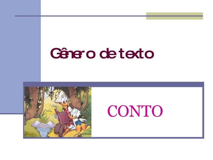 Gênero de texto CONTO