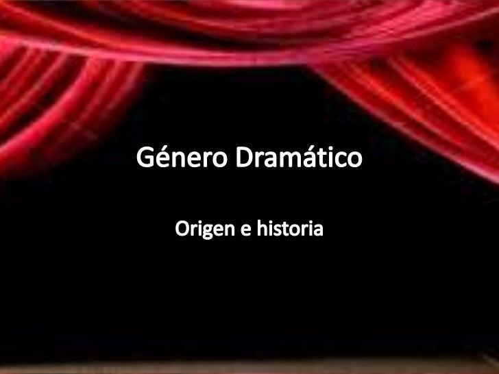 • Nace en Grecia, s. V-IV  a.C• Fines religiosos• Culto a Dionisio• Estructura narrativa  sobre mitos, que  cambia a  repr...