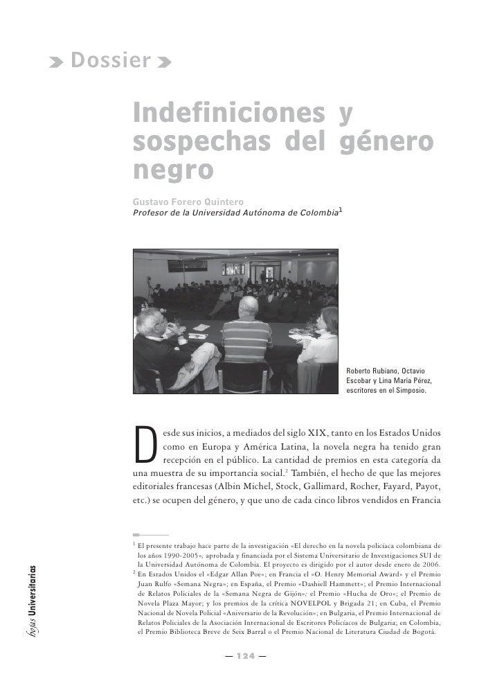 Dossier                              Indefiniciones y                             sospechas del género                    ...