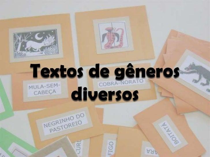 Textos de gêneros    diversos