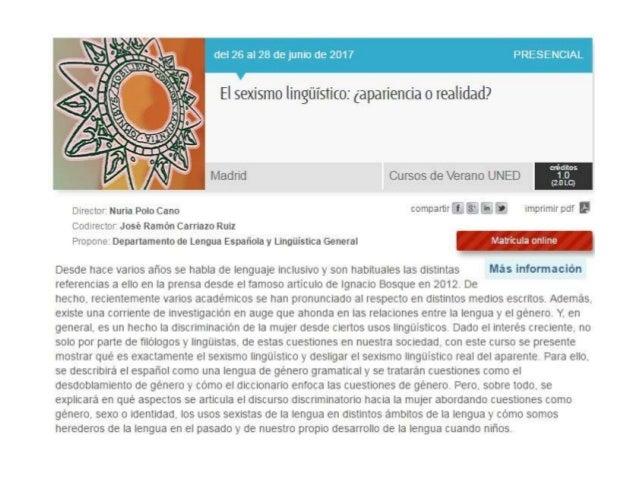 27/06/2017 Género, sexo e identidad lingüística 2 Género, sexo e identidad lingüística José Ramón Carriazo Ruiz 1. Bibliog...