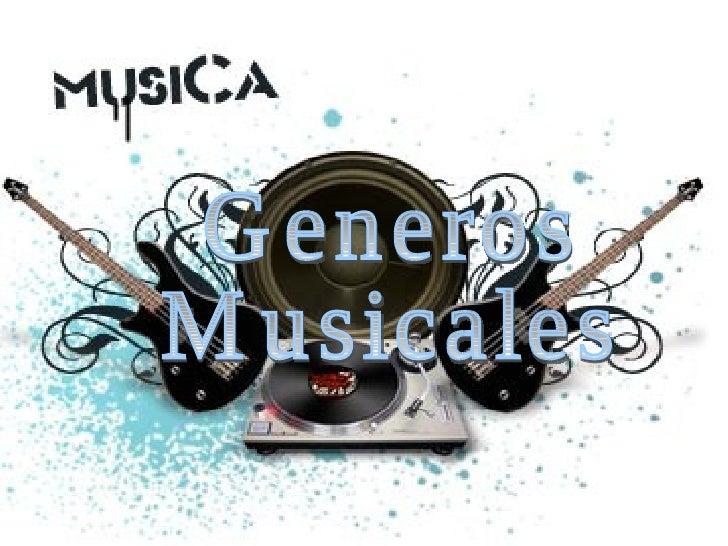Generos Musicales
