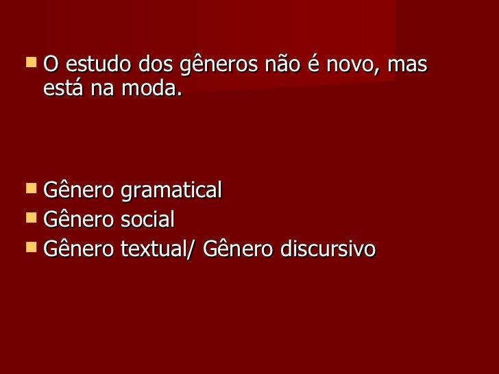 Gêneros Textuais Slide 2