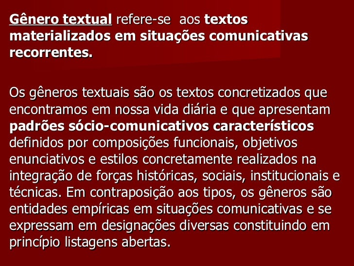 Gêneros Textuais Slide 3